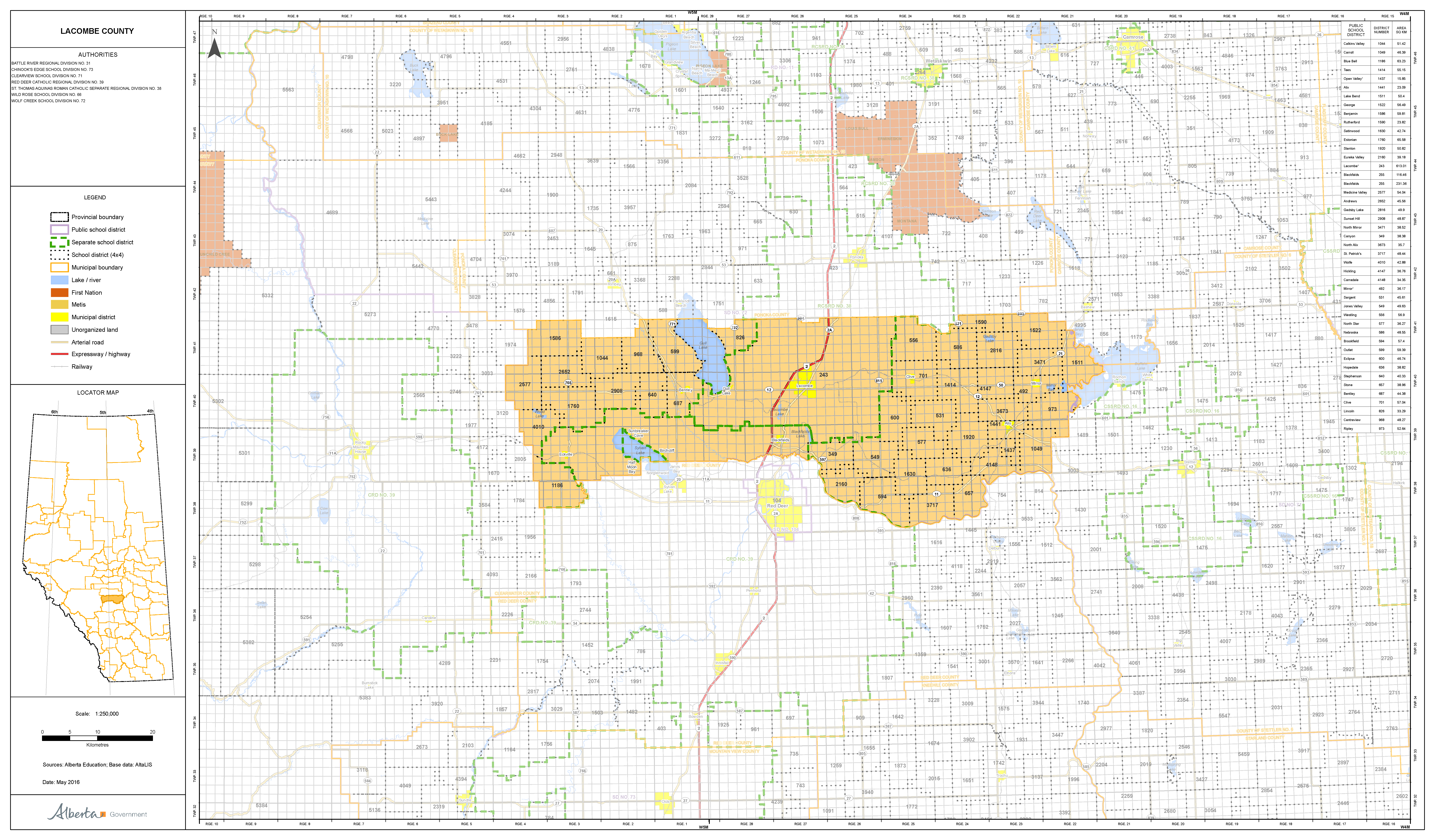 Lacombe County Map Relocating to Lacombe County